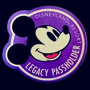 Disneyland Legacy Passholder Magnet
